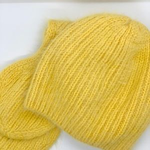 Ladies 100% Cashmere Knitted Scarf and Hat